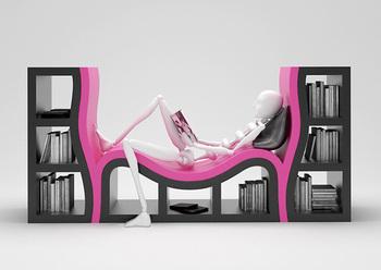 Bookshelfbench